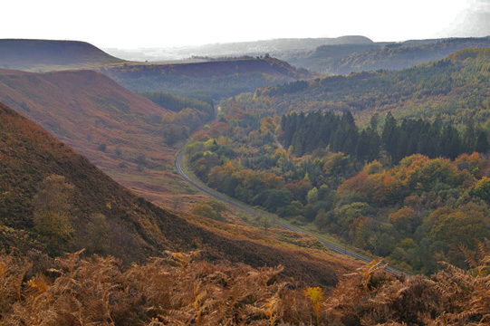 Newtondale in Autumn/photo by Arnold Underwood, Oct 2009