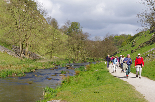 Walking by the River Dove, Wolfescote Dale/photo by Arnold Underwood, May 2010