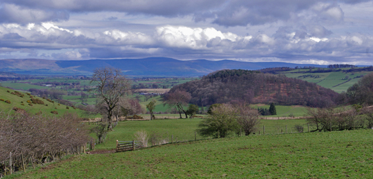 Distant Pennines from near Pooley Bridge/Photo by Arnold Underwood/April 2011
