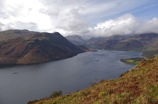 Ullswater from Gowbarrow Fell/Photo by Arnold Underwood/April2011