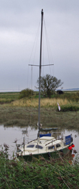 Yacht at Winteringham Haven/ from a photo by Arnold Underwood, 4th Sept 2011