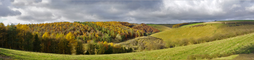 Deep Dale in Autumn/from a photo by Arnold Underwood/Nov 2012