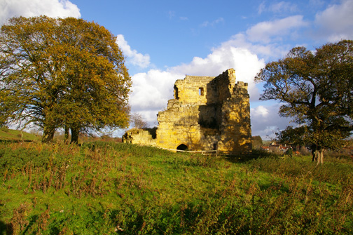 The ruins of Ayton Castle/photo by Arnold Underwood, Nov 2007