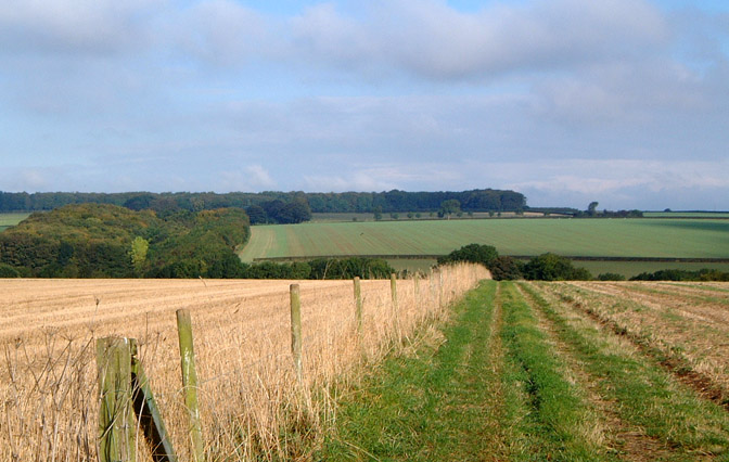 The Wolds near Bainton/photo by Arnold Underwood,