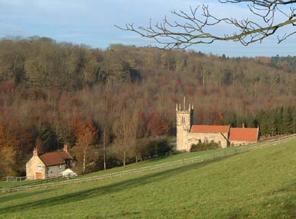 Brantingham Dale & Church/photo by Arnold Underwood/Dec 2005