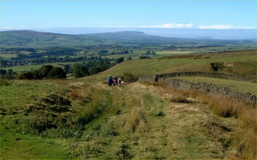 The view west whilst climbing onto Eastby Fell/photo by Arnold Underwood/Oct 2003