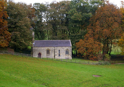 St. Ethelburga's Church in Autumn/from a photo by Arnold Underwood/Nov 2006