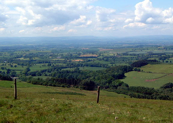 View across the Vale of York from the Hambleton Drove Road/photo by Arnold Underwood, June 2004