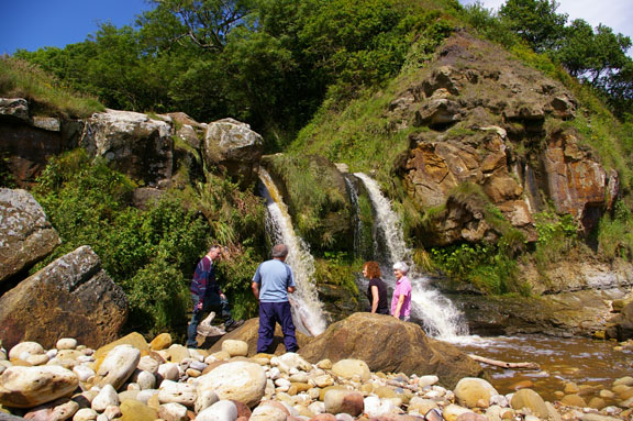 By the waterfall at Hayburn Wyke/photo by Arnold Underwood, July 2007