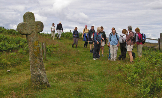 Members of Leven Walking Club at Malo Cross/photo by Arnold Underwood,July 2008
