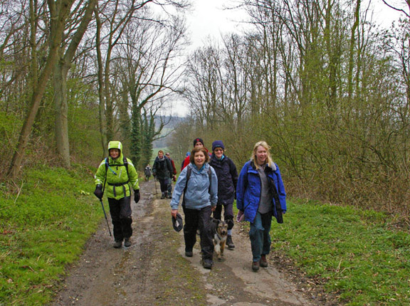 Climbing out of Nunburnholme through Brant Wood /photo by Arnold Underwood,April 2008