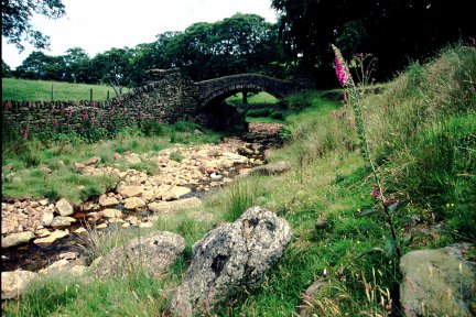 Close Gate packhorse bridge/photo by Arnold Underwood