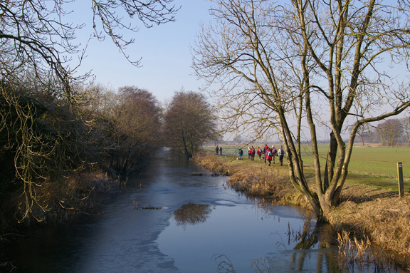 Walking by the Pocklington Canal /photo by Arnold Underwood,Feb 17th 2008