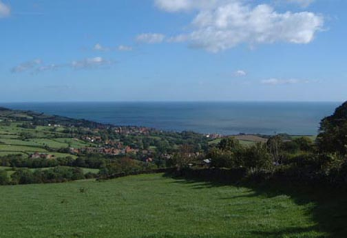 The view over Robin Hoods Bay/Photo by Arnold Underwood/Sept 2004