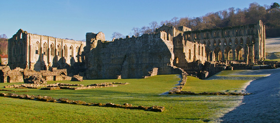 Rievaulx Abbey/from a photo by Arnold Underwood/Feb 2008