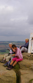 By the Trig Point on Roseberry Topping/from a photo by Arnold Underwood/Sept 2007