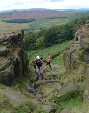 Up on to Stanage/Photo by Arnold Underwood/June 2004