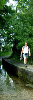 Walking by the long ford at Tealby Thorpe/ from a photo by Arnold Underwood, June 2003
